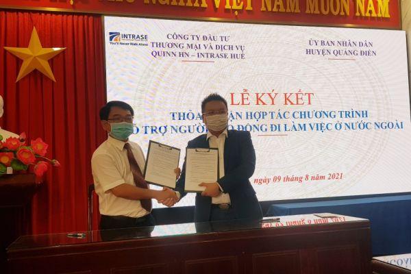 Huyện Quảng Điền - Thực hiện chương trình ký kết hỗ trợ người lao động đi làm việc có thời hạn ở nước ngoài