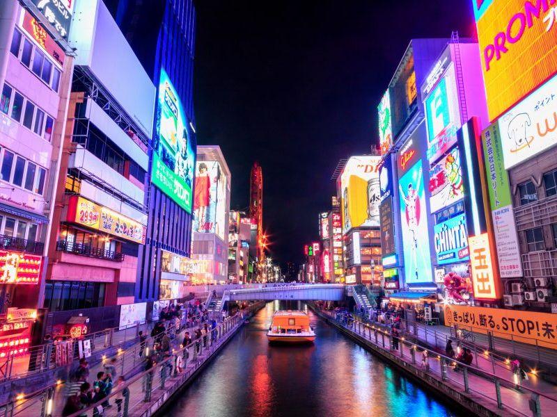 Dotonbori - biểu tượng của Osaka hào nhoáng