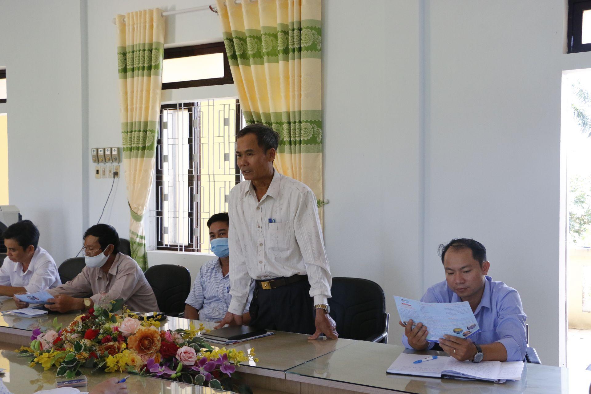 Ban lãnh đạo xã Quảng Phước